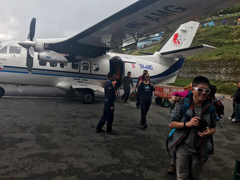 Arrival in Lukla